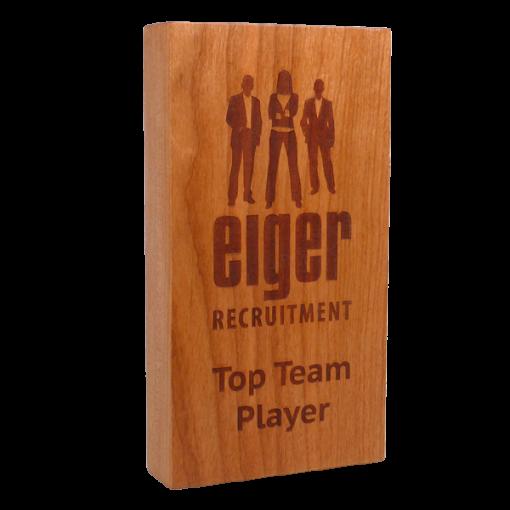 real wood block award - cherry