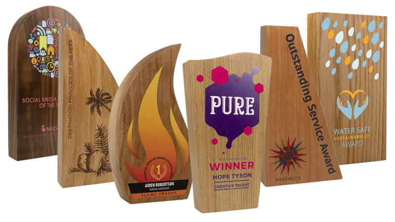 real wood block awards