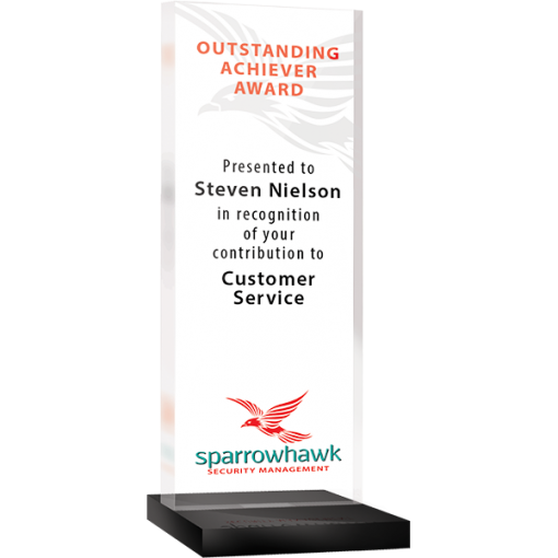 freestanding acrylic award - oblong