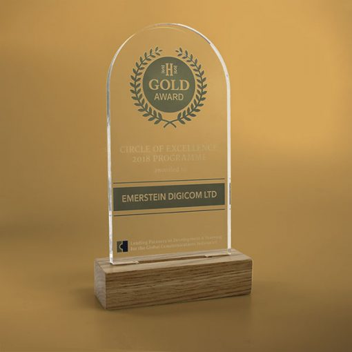 standard acrylic award arch
