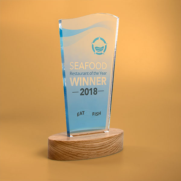 standard acrylic award wave
