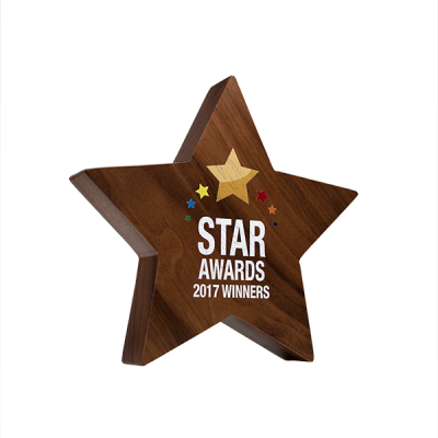 real wood block awards complex Star
