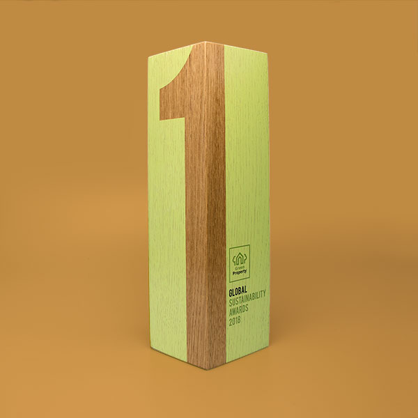 real wood column award oak medium
