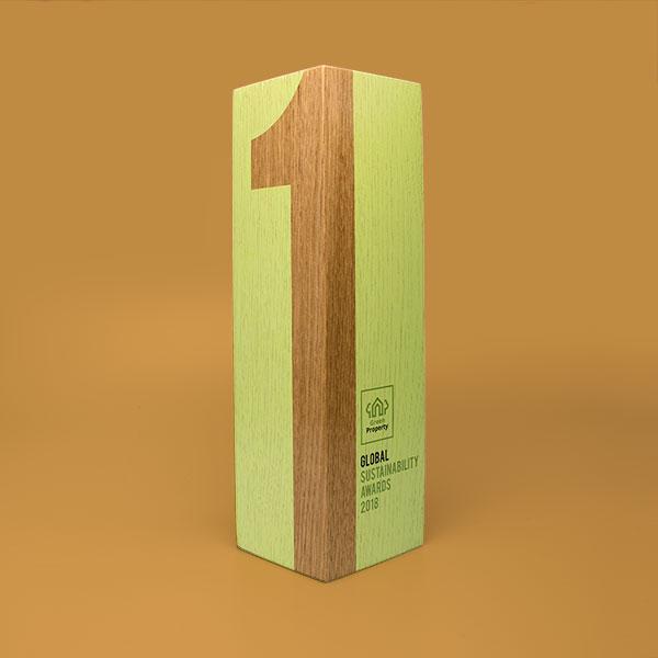 real wood column award oak medium