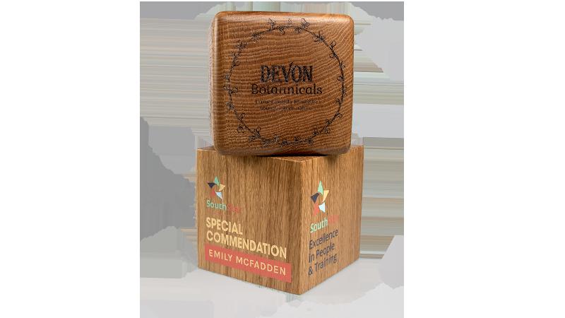 real wood sunrise awards with acrylic front