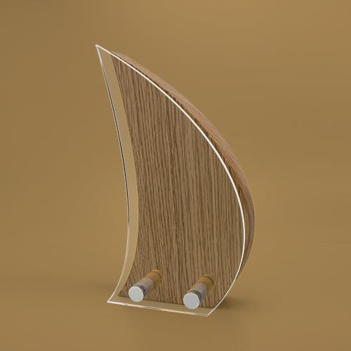 Sail Wood Block Award with Acrylic front