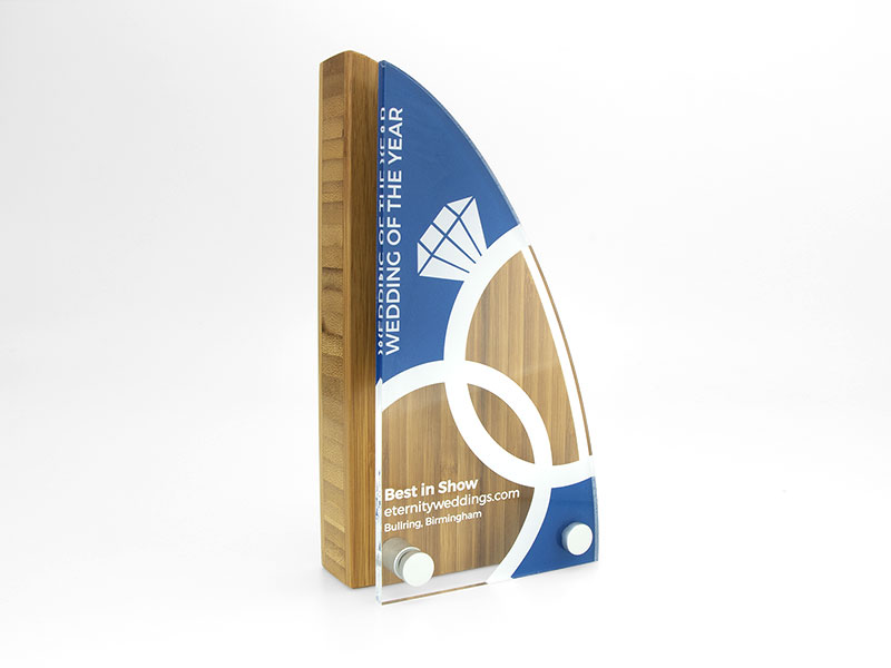 Bamboo Block Award with Acrylic Front - Sail
