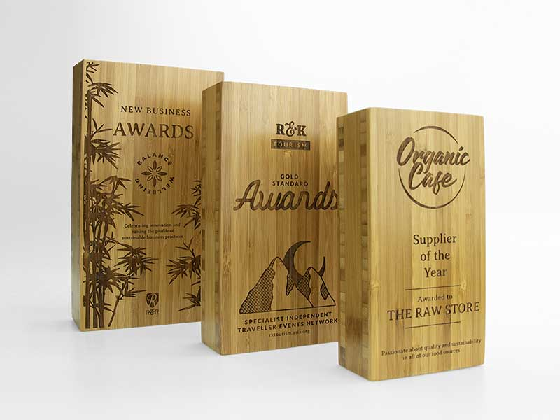 Bamboo Block Awards Engraved