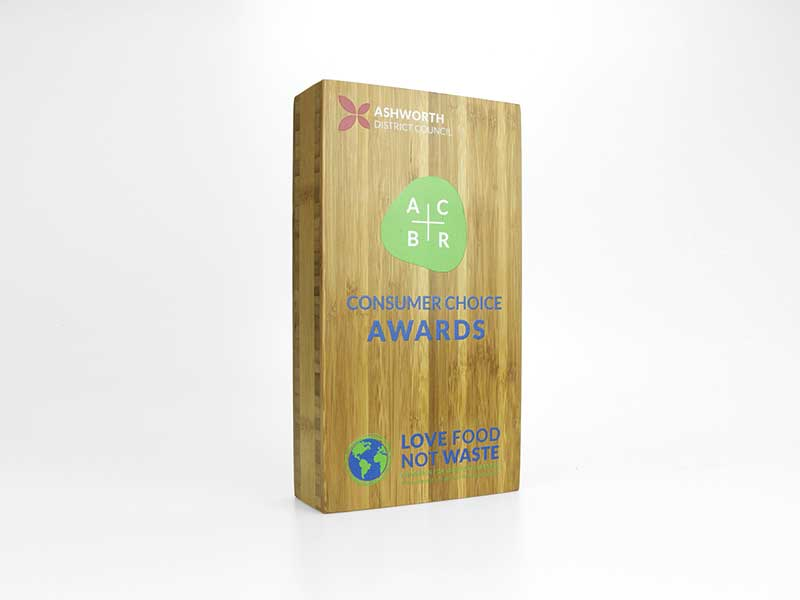 Bamboo Block Award large printed