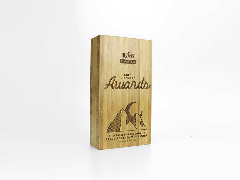 Bamboo Block Award small engraved
