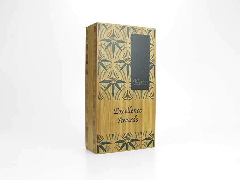 Bamboo Block Award medium printed